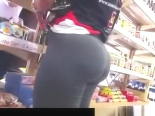 Amazing Camaltoe and Ass in supermarket