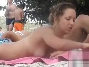 Topless Russian women with nice tits at the lake