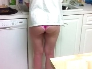 Wife cleaning the dishes