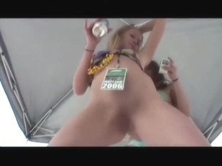 Party babes enjoy showing off their pussies to cameras