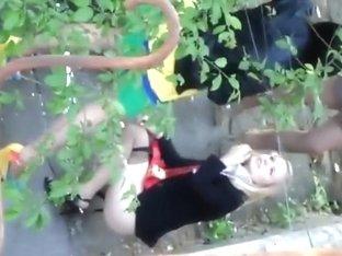 Random girls filmed when relieving themselves