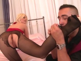 Horny pornstar Jessie Volt in incredible lingerie, blonde porn scene