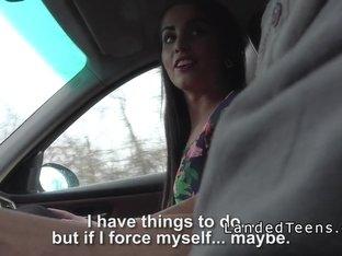 Stranded teen bangs in opened roof car