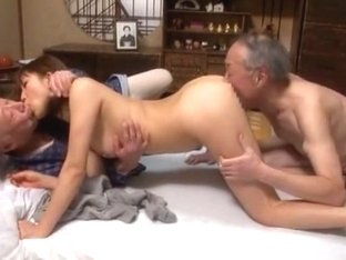Amazing Japanese chick Akari Satsuki in Exotic Threesomes, Oldie JAV video