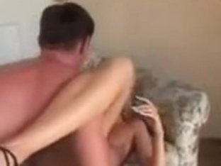 Hot blonde fucks fruits and gets an anal creampie