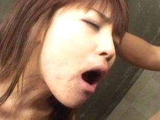 Rough treatment for Megumi Morita, anal dildo and deepthroat