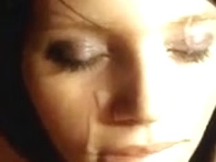 Pretty girl gets a load of jizz on her beautiful face