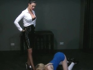 BDSM XXX Horny sub with massive tits lets Mistress in
