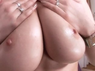 Mona Lee poses in front of the camera demonstrating her big natural boobs at the casting