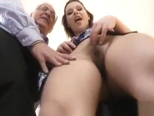 Dilettante Babe Enjoys A Fuck Session With An Older Fellow