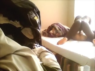 Usa white girl gets her shaved pussy missionary pumped by her black bf