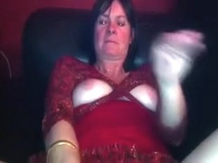 My whorish dark-haired wife dildos her loose soaked crack on web camera