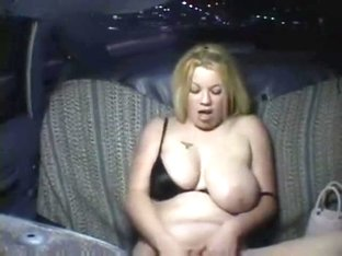 Curvy blonde drops pill in taxi and can't resist
