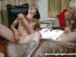 Exotic pornstars Kleio Valentien, Tommy Pistol, Sheena Rose in Crazy Emo, Big Tits porn movie