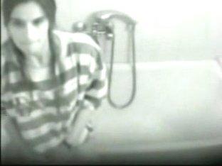 Hidden cam in bathroom caught my girlfriend masturbating