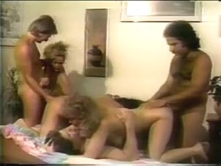 Ron Jeremy and friends pound these orgy girls in the tight assholes