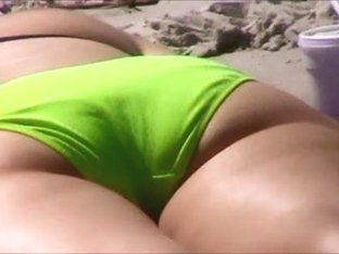quick beach crotch shot spy 153, nice cameltoe