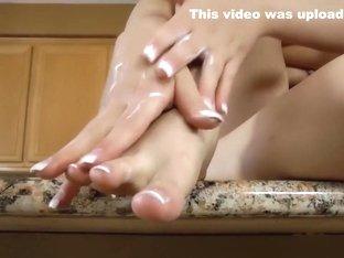 Horny pornstar Mia Malkova in hottest foot fetish, fetish sex clip