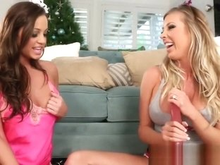 Samantha Saint & Abigail Mac Christmas Fun