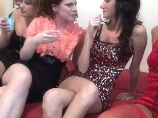Charlotte Reed & Angel Piaff & Corrine & Eveline & Ilsa in hot college sex with a group of horny s.