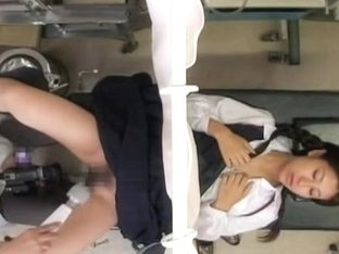Gyno tried several sex toys on this lovely Japanese babe