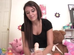 Hottie Teen Katarina Jerks You Off While Changing Your Diaper
