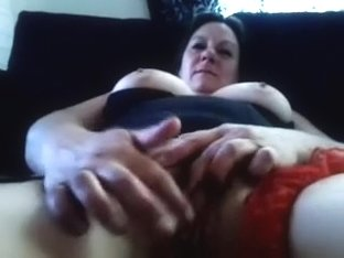 My big breasted wife finger fucks her delicious snatch in front of me