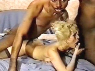 Lewd blondy swinger group-fucked by blacks