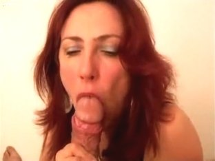 German Redhead Gamer Girl Mega Pov Blowjob