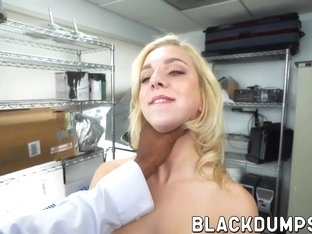 Brunette babe with small tits fucked hard by monster BBC