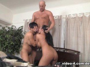Exotic pornstars Shay Fox, Richelle Ryan, Christian XXX in Crazy Brunette, Big Tits porn clip
