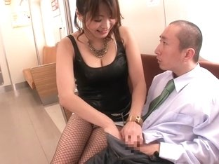 Crazy Japanese slut Miwako Yamamoto in Amazing couple, blowjob JAV scene