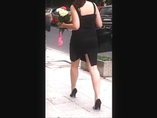 Girl with sexy legs and black high heels