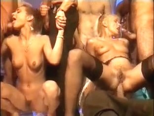 Old retro porno with great orgy