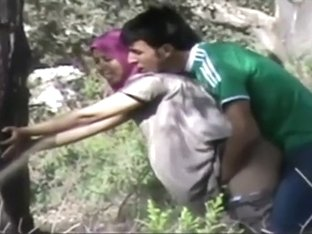 Exotic couple caught in the middle of sex