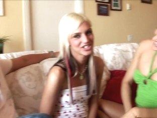 Best pornstars Michelle Lay and Christine Alexis in exotic brazilian, blonde porn scene