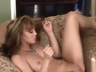 Horny Lesbian Action On The Sofa