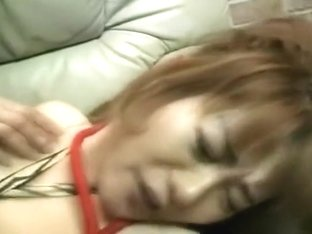 Blindfolded Asian slave gets bound and stuffed with a big dick