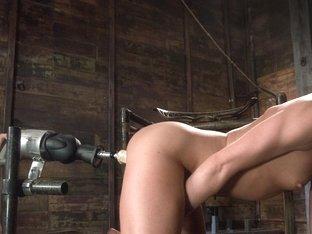 Best fetish xxx scene with horny pornstars Louisa Lanewood and Alyssa Reece from Fuckingmachines