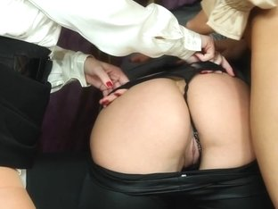 Piss loving euroglam babes toy pussy in trio