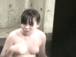 Fatty Asian teen got her tits shot in the shower room nri041 00