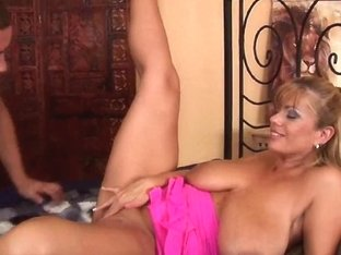 Large titted soccer mommy receives her older fur pie pounded
