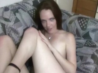 My Horny Girlfriend Masturbating On Couch