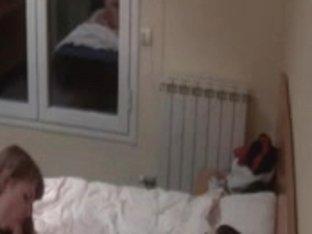 Curvy redhead gets boned in hidden camera sex video