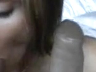 Blonde bitch engulfing my rod and her favorite black dildo