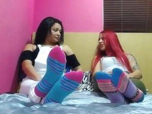 Stockings Wearing Brunette Sonia Kel Banging Her Yummy Moist Twat