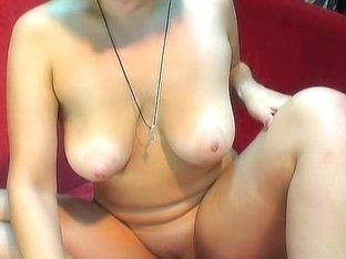 Luscious blond stuffs her taut holes with dildos