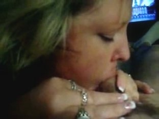 Blonde Wife Blows With The Game On
