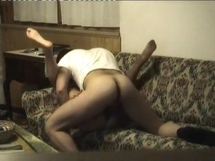 Taut body mother i'd like to fuck copulates nice on the couch