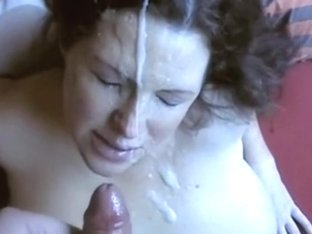 Mature I'd Like To Fuck receives goo on her wicked face